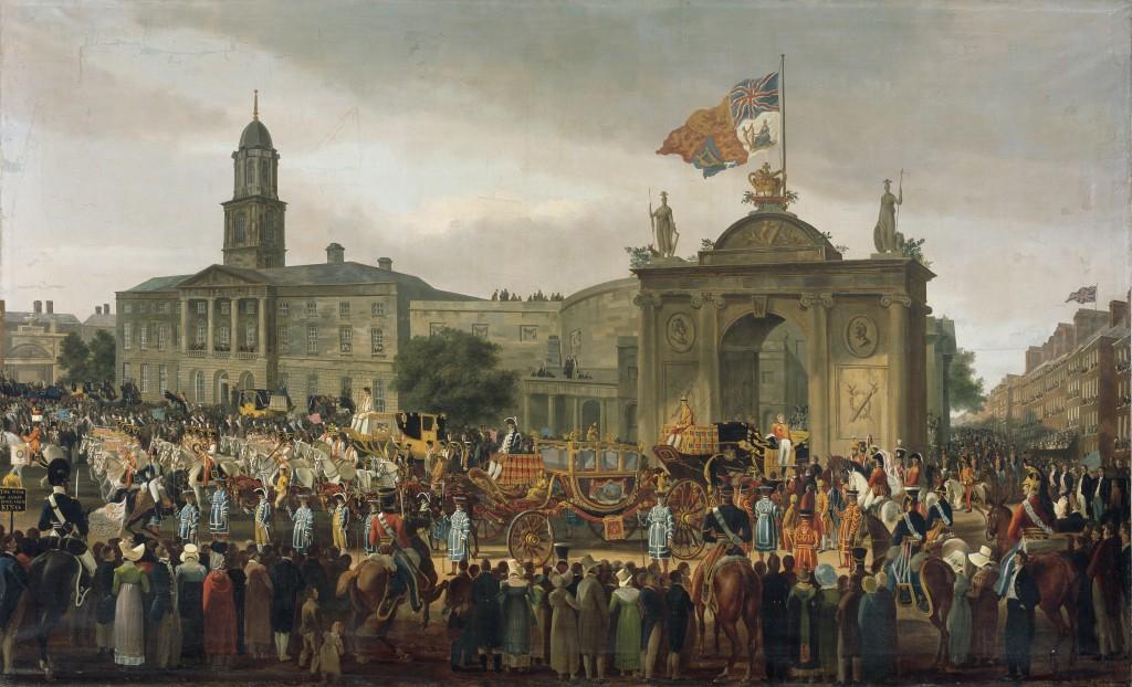 Turner de Lond, W, George IV, King of England, entering Dublin courtesy NGI