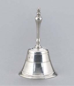 Silver table bell c 1860 John Ireland