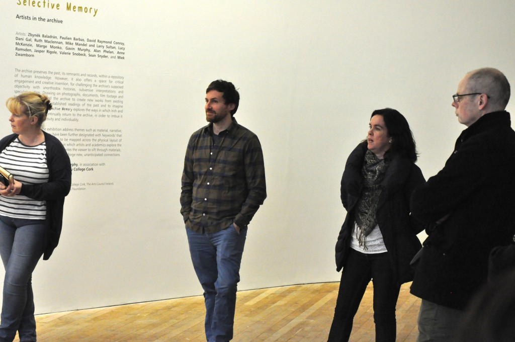 Chris Clarke (second left) and Orla Murphy (second right) © Glucksman Gallery