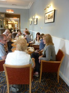 CorkDFAS members enjoying tea at the Maldron Hotel after investigating St Anne's