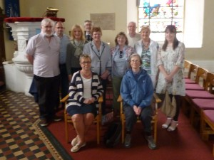 CorkDFAS members inside St Anne's, Shandon