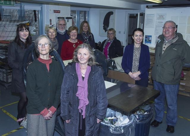 Members at Cork Printmakers 14:11:15